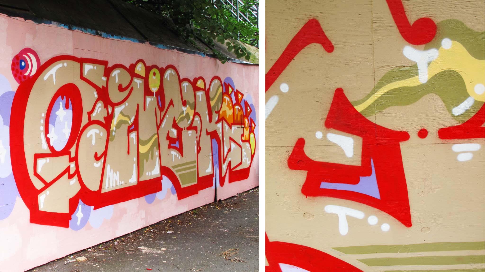 onek nm graffitti manchester england uk